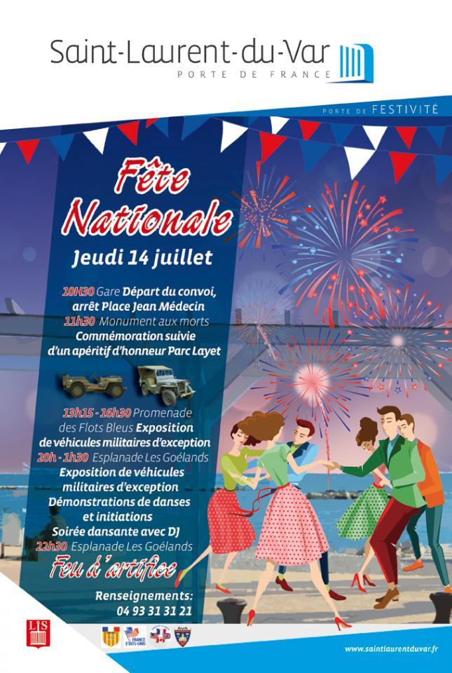 F te nationale du jeudi 14 juillet 2016 office de tourisme - Office de tourisme saint laurent du var ...